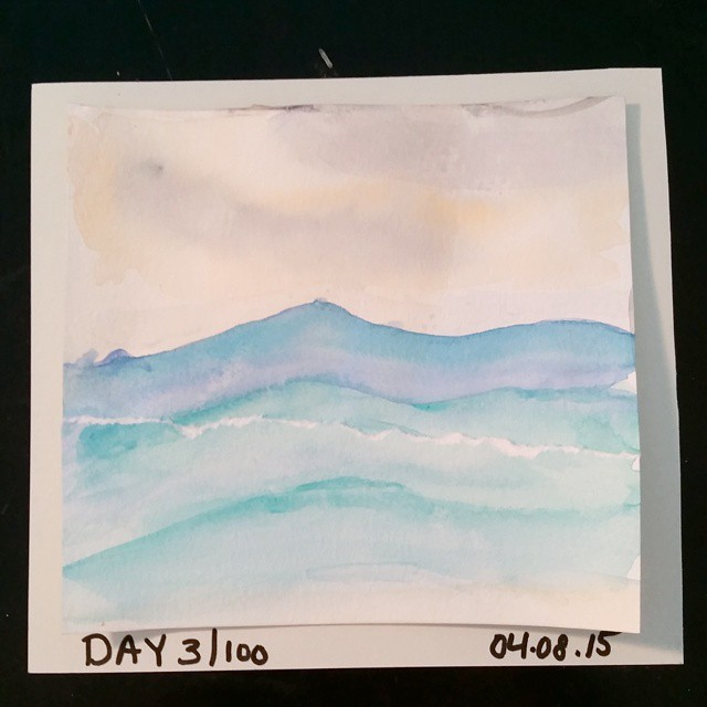 Day 3 of The 100 Day Project
